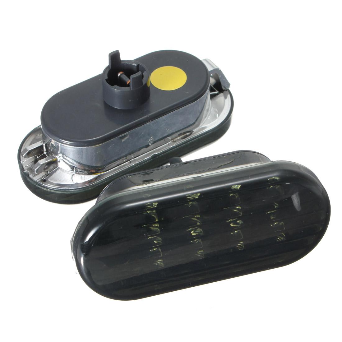 Пара янтарный дым боковые габаритные включите свет 8LED для фольксваген гольф Jetta Passat