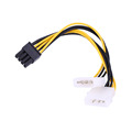 16cm 5 inch 8 Pin PCI Express Male To Dual LP4 4Pin Molex IDE Power Cable
