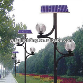 Garden Lighting Pole With Beautiful Braket To Hold Ball Garden Light And  Solar Panel On Top