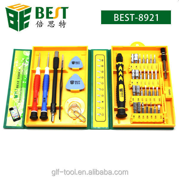 BEST-8921 38 in 1 mobile phone screwdriver set for repairing mobile phone computer