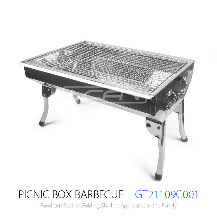 charbon de bois barbecue grill personnalis inoxydable portable barbecue en plein air grill. Black Bedroom Furniture Sets. Home Design Ideas