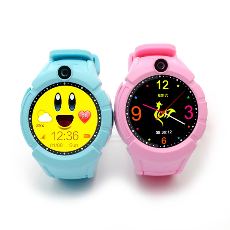2017 New 1.44 TFT Round Screen Kids Camera Night Flash Smart Watch Phone SOS Call Location Finder Q360 Children smart watch