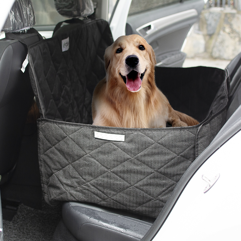 Groothandel fabrikant grote zwarte waterdichte opvouwbare wasbare carrier hond pet car seat cover