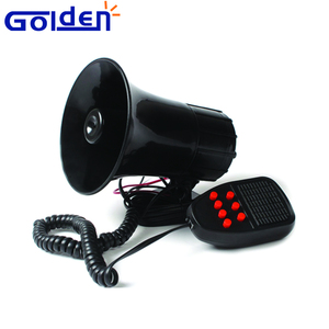 Universal motorcycle Auto Van Vehicle Alarm Warning Siren Horn 12V DC Black vehicle warning horns