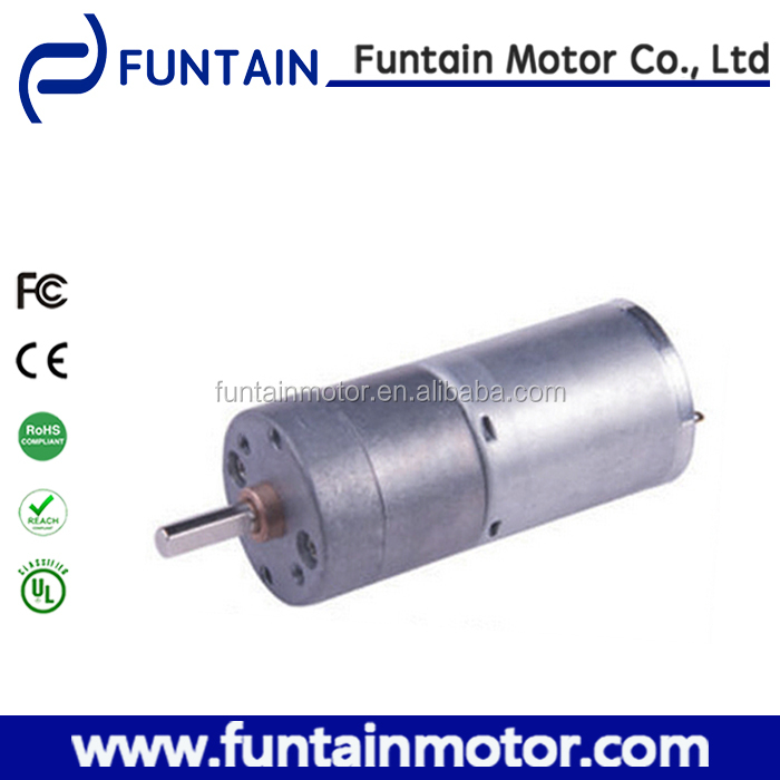 RoHS Compliant 25mm 6v 12v 24v zheng gear motor with gearbox