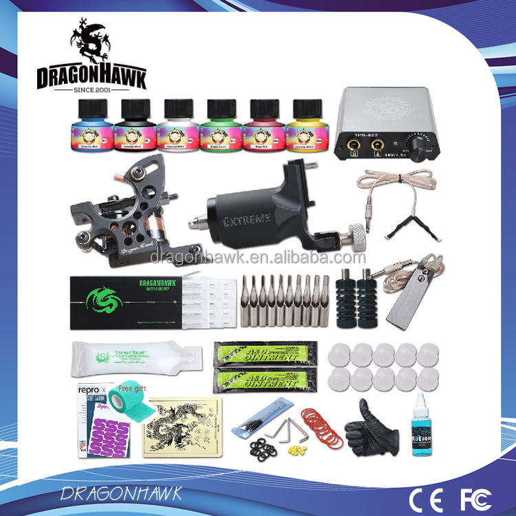 Wholesale Tattoo Kit 2 Tattoo Gun Tattoo Kit One Rotary One Coil Machine