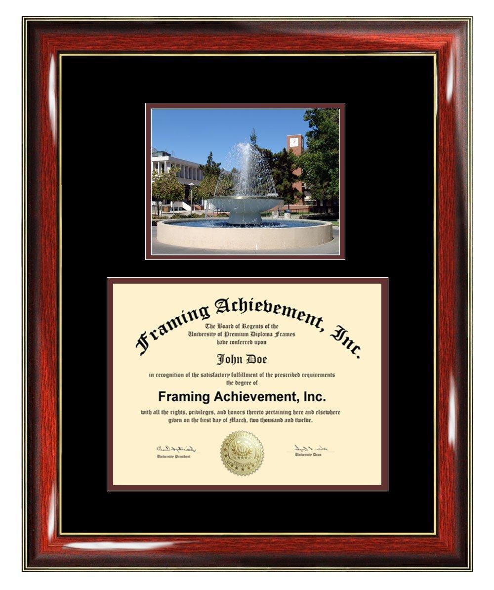 California State University Fresno Diploma Frame - CSUF Graduation Degree Frame - Matted Fresno State University College Photo Graduation Certificate Plaque Framing Graduate Gift Collegiate