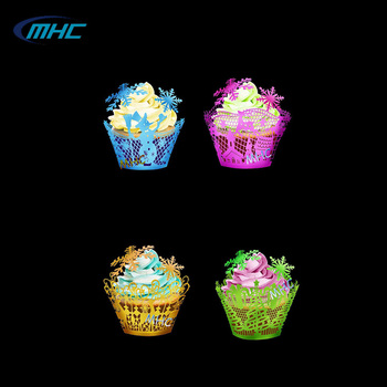 New Arrival 3D butterfly pattern cupcake decoration silicone sugar lace mats