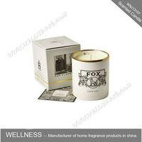 home decoration natural soy scented candle in white glass jar