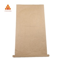 Custom price recyclable 20kg 25kg 50kg kraft paper laminated pp woven cement flour packing bag for chemical
