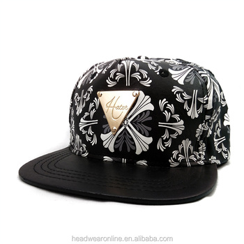 dd2e415846a new fashion design hip-hop snapback cap with BOY letter metal plate