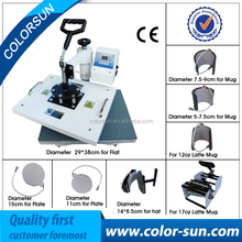 New 8 in 1 Combo t-shirt mug cap heat transfer printing press machine