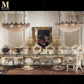 Meuble Italien Salle A Manger.6m Fabuleux Italie Design Baroque Marqueterie Meubles De Salle A Manger Royale Sculpture En Bois Table A Manger Ensemble Pour 18 Personnes Buy