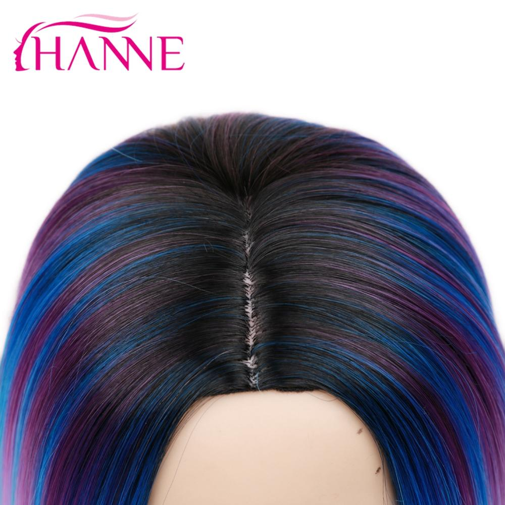 Hanne Kunsthaarperucken Mode Blau Bunte Kurze Haare Bob Synthetische Perucke Fur Junge Dame Summer Wear Buy Kunsthaar Perucken Kurze Haare Bob