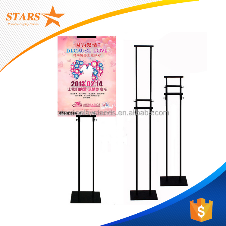 Free Samples A 1 A2 A3 A4 Sign Board Stand , Aluminum Frame for Sign Board