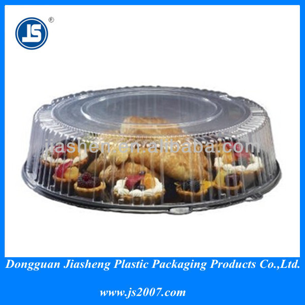 100% Biodegradable Transparent Round Platic Catering Tray with Dome Lid 10 inch