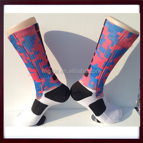 58b8619264e1 High Elastic New Fashionable Dye Sublimation Printing Socks ...