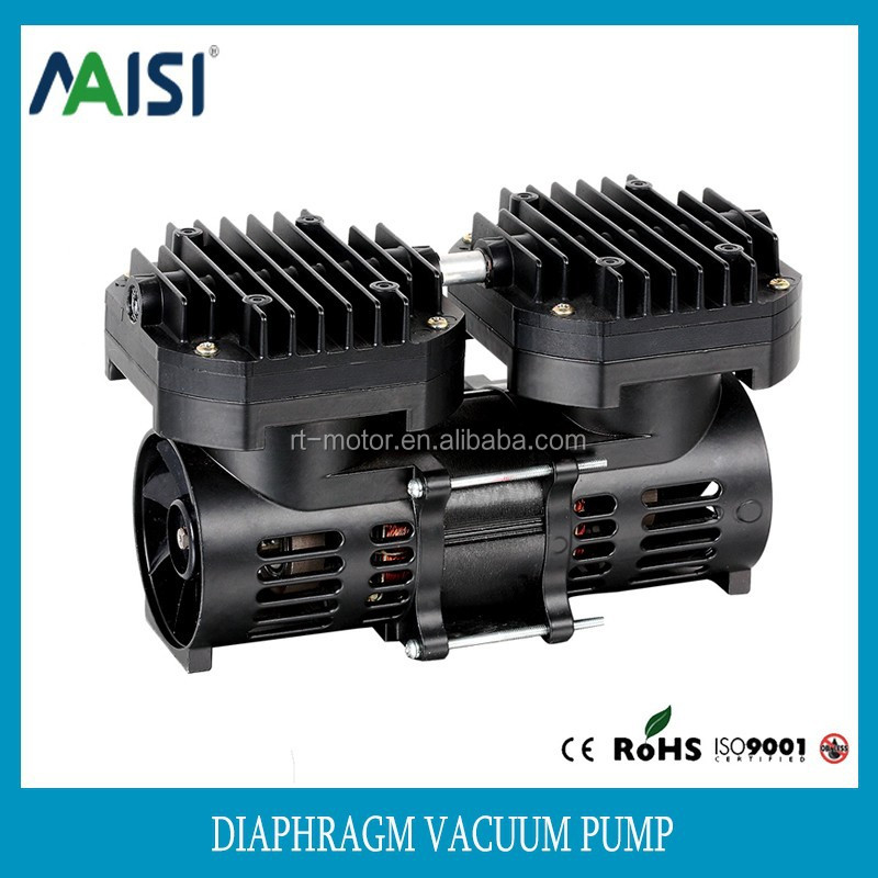 china supplier 110v micro electric motor diaphragm vacuum pump double stage