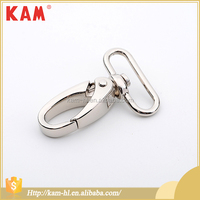 High quality china KAM silver metal snap buckle hook for backpack