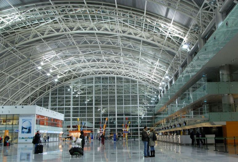 Low Cost Prefab Long Span Space Frame Structure Airport