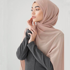 2018 Cheap Solid color plain chiffon hijab scarf