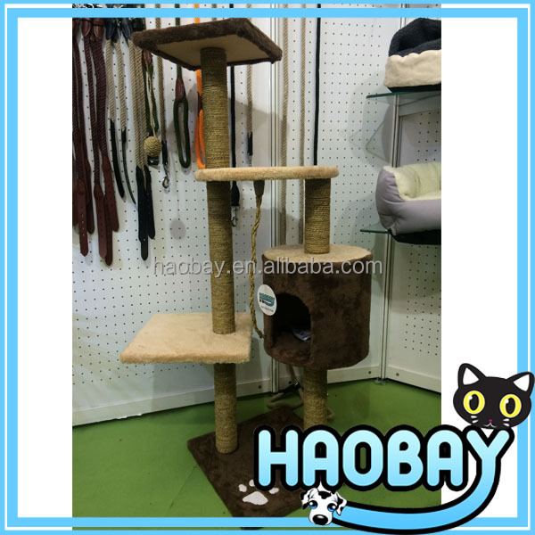 Exclusive Sea Grass And Coral Velvet Cat Scratcher Tree Pet Toy Wholesale Cat Scratching Trees