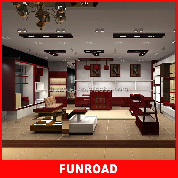Name Furniture Retail Shoes Showroom With Display Rack And Shelves ...