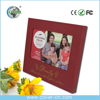 Factory promotional custom plastic frames with music and voice recordable