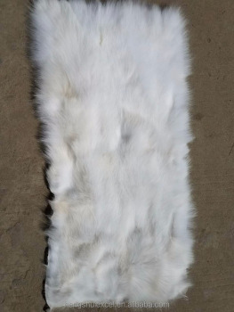 Cheap wholesale real white fox fur skin side material stitched fox fur pelt