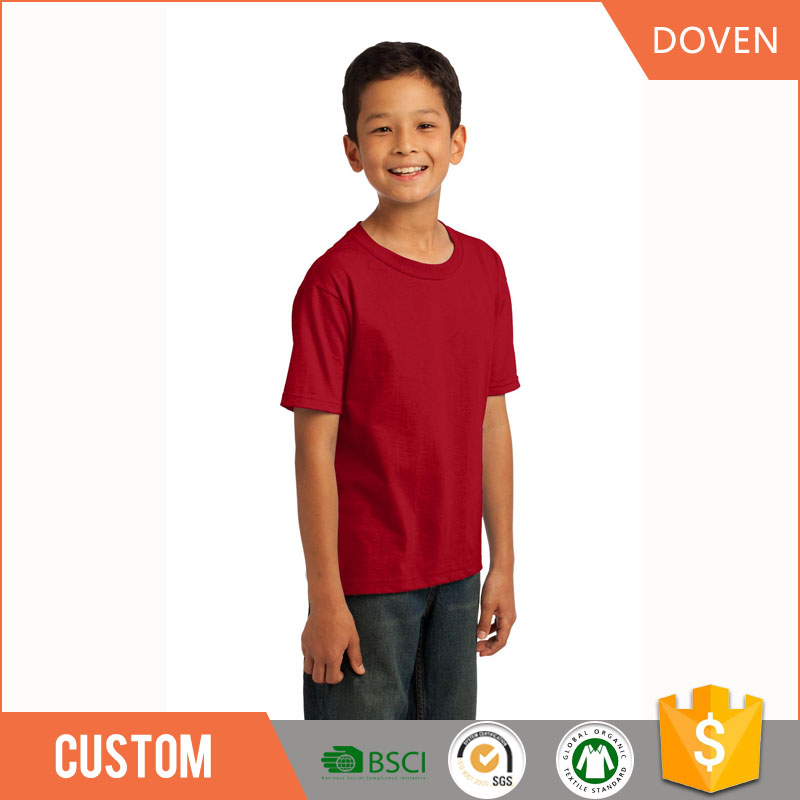 Good quality oem cotton kids t-shirts plain