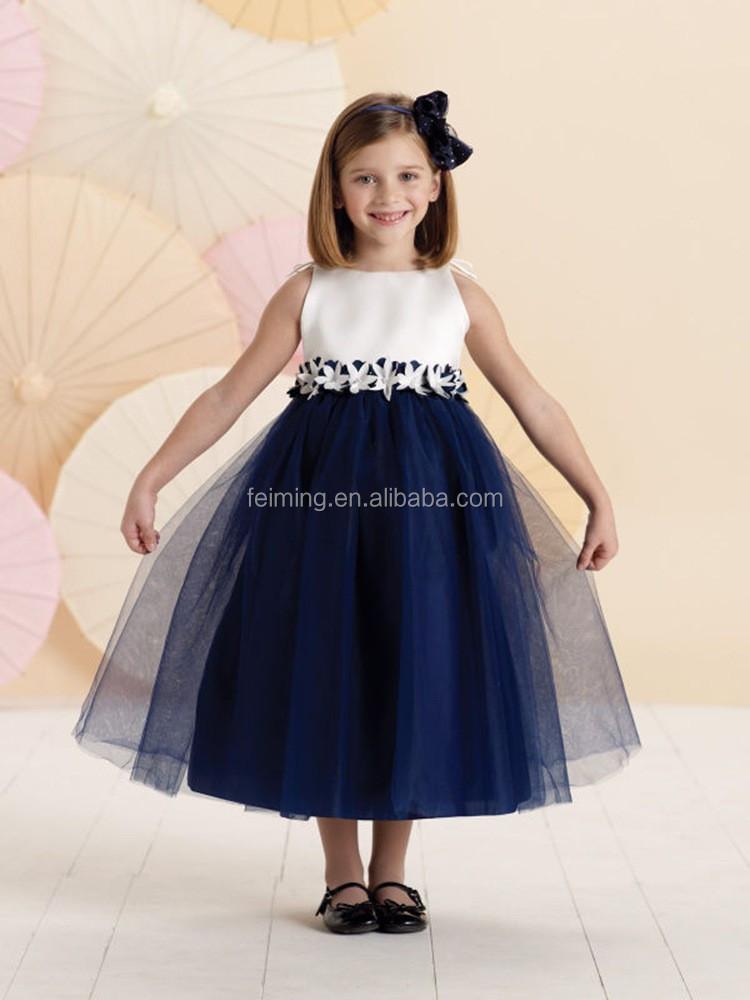 Wholesale Fashion Sleeveless Belted Designer Flower Girl Patterns ...