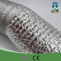 High quality round silver ventilation system aluminium cable duct