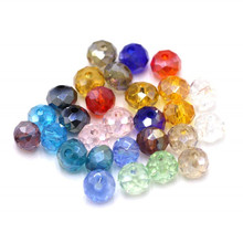 Pujiang Color fancy glass Beads manufacturer cheap rondelle crystal Beads