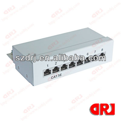 Cat5E 8 Ports STP Patch Panel,Krone&110 dual IDC
