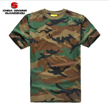 factory wholesale cheap short sleeve 100% cotton jessey blank camo t shirt  camouflage t shirt