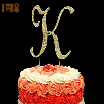 Superb Diamante Crystal Rhinestone Lesbian Birthday Letter Cake Topper Funny Birthday Cards Online Overcheapnameinfo