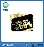 custmized pvc plastic discount/gift /business card for promotion