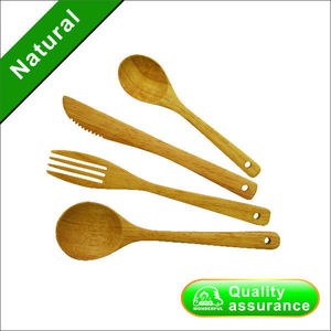 Lovely Wooden cutlery set spoon fork knife children dinnerware ELLO KITTY