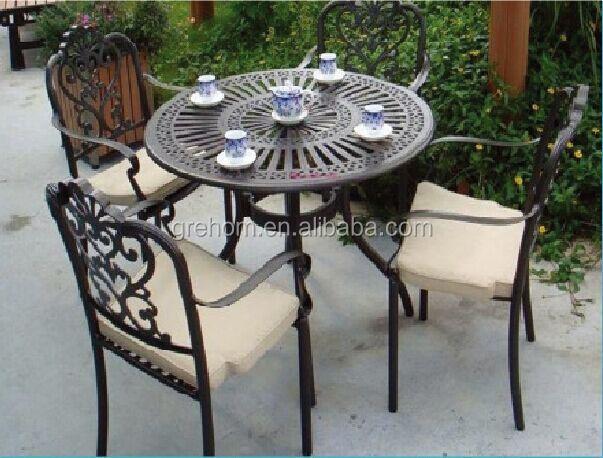 En Fonte Ronde En Aluminium Table De Pique-nique Et Chaise Meubles De  Jardin - Buy Table Et Chaise,Table Et Chaise En Fonte,Table Ronde En Fer  Product ...