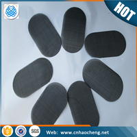 PP PE plastic recycle long service life 150mm dia black wire cloth filter disc