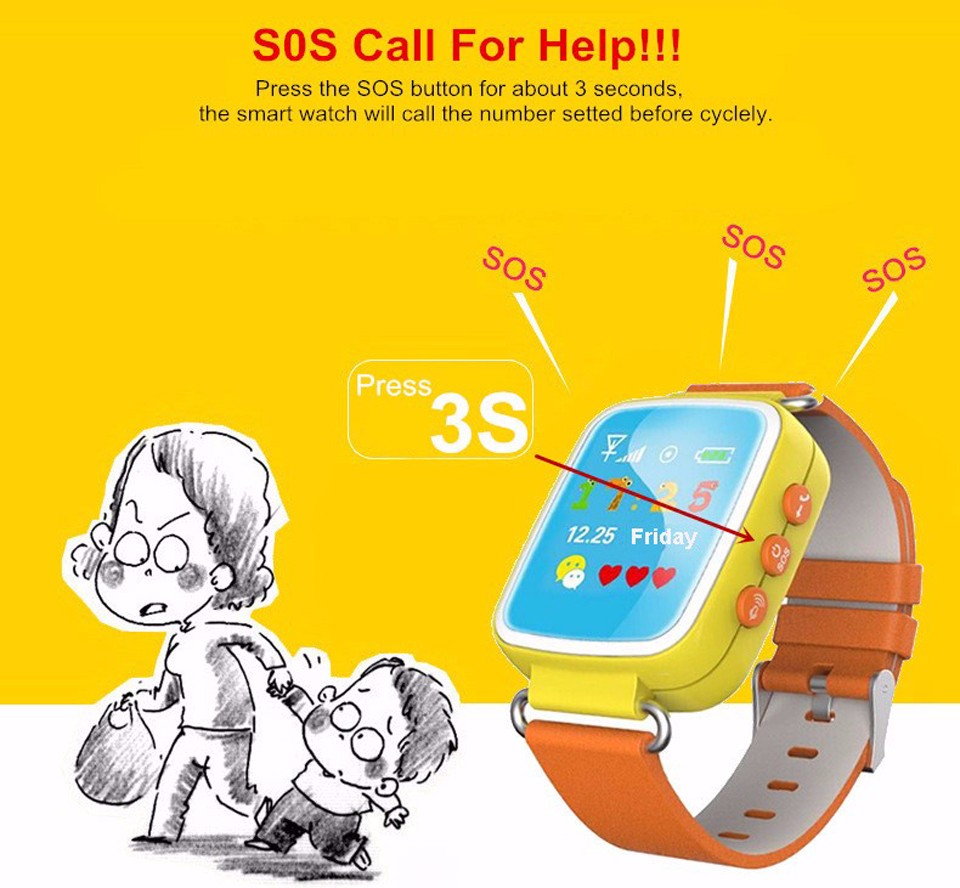 Child GPS Tracker Smart Baby Watch Q80 Kid SmartWatch for Children with SIM Phone SOS Function For Android iOS Phone