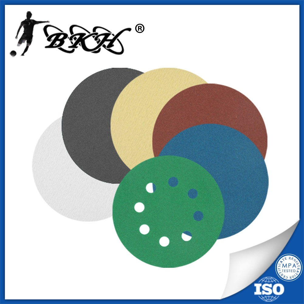 5 inch sanding disc hoop and loop fastener sanding paper coated abrasive