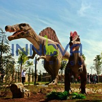 Animated life size robot dinosaur made of foam for sale