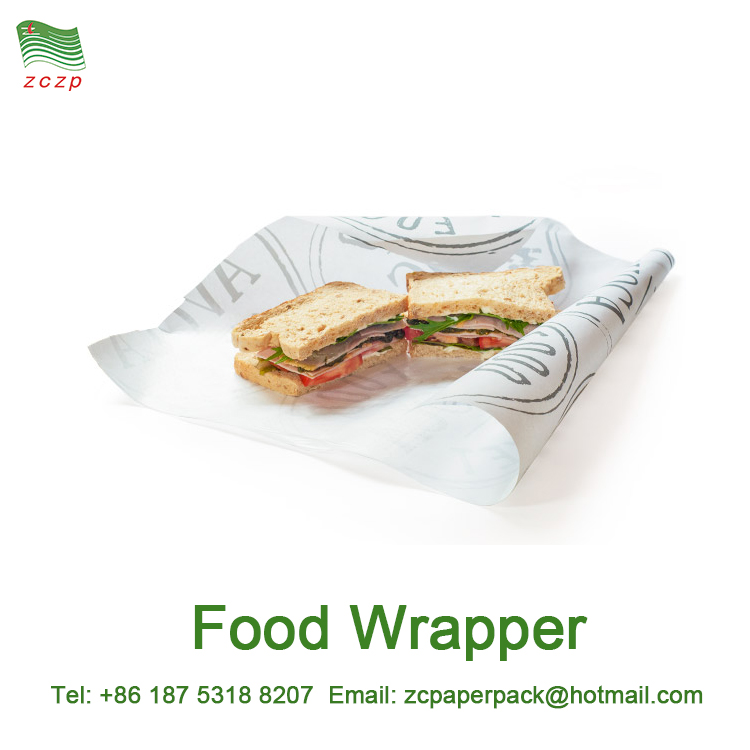 Safe Grade Paper Made Food Wrapper für Fast Food Burger Fleisch