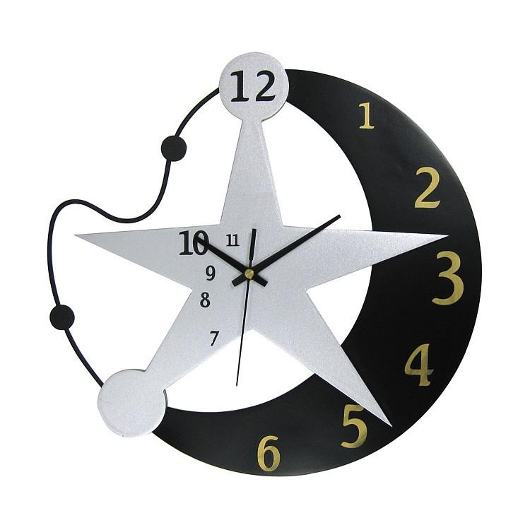 Blanco y negro de moda en forma de estrella único Relojes de pared ...