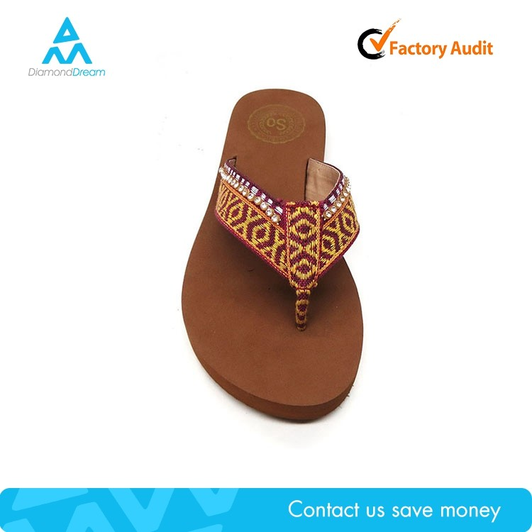 Summer manufacture factory carve brown custom flip flop print