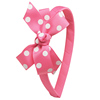 Wholesale Boutique Hair Accessories Girls Grosgrain Ribbon Bow Hairband