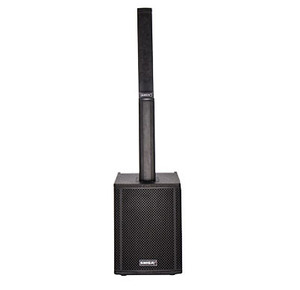 Portable column speakers with PA system