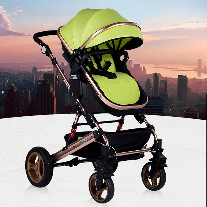 2017 wholesale custom good 3 in 1 baby stroller with solid wheel