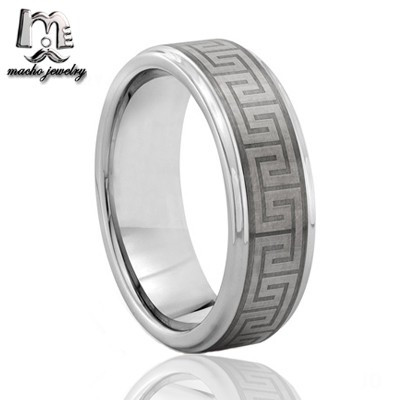 Best Selling stepped edges Great Wall tungsten ring with china jewellery MACHO